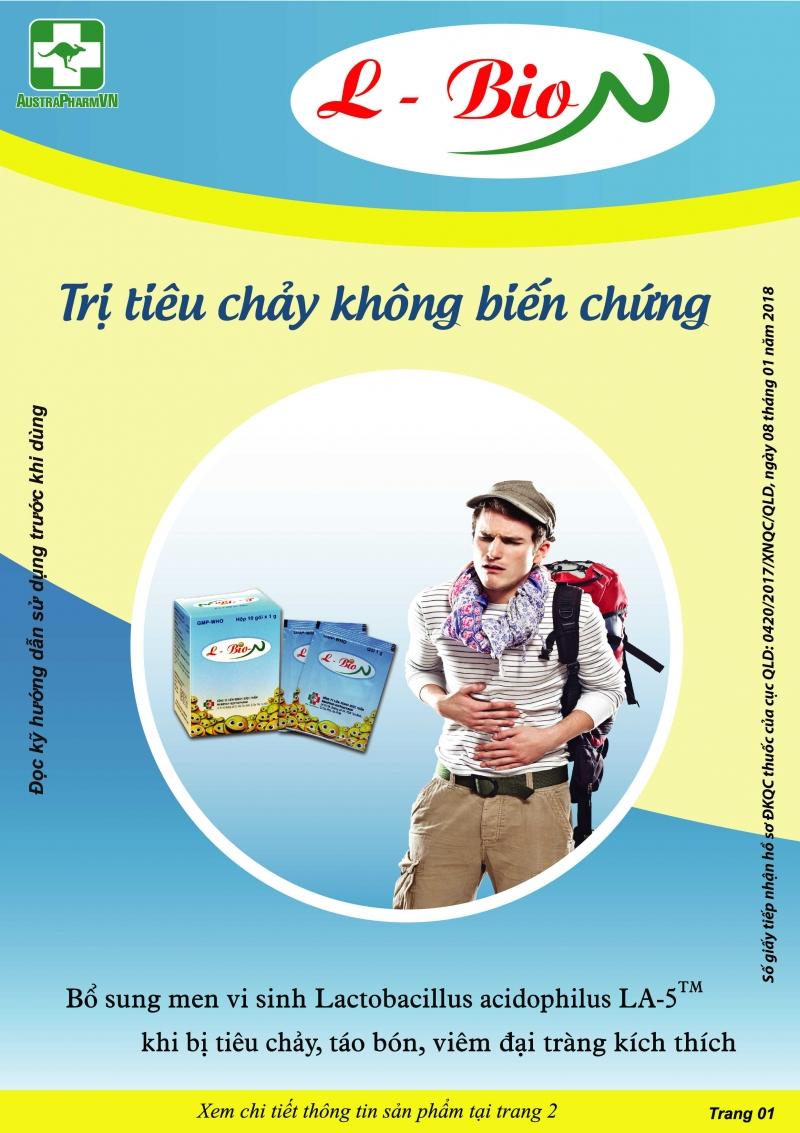 L-BIO-N (Thuốc bột uống) Hỗ trợ phòng ngừa và điều trị tiêu chảy, táo bón, viêm đại tràng kích thích