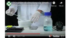 Công dụng Simethicone: làm vỡ bong bóng khí